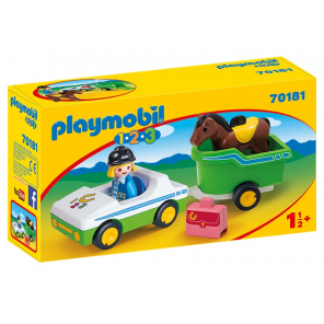 PLAYMOBIL 1, 2, 3 - Carriage with horse trailer (70181)