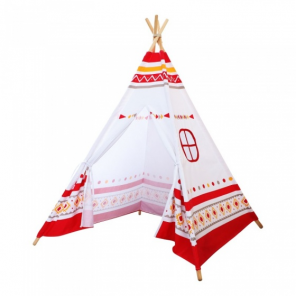 Sunny tepee tent Led160 cm white/red/yellow