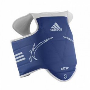 adidas body protector reversible junior red / blue size XXS