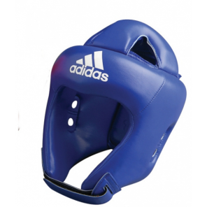 adidas headguard boxing leather blue size S