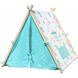 Small Foot play tent Elephant and Crocodile131 cm wood 2-piece