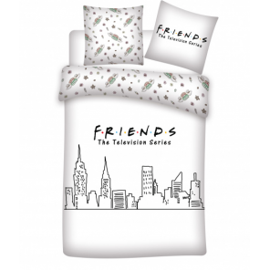 Aymax duvet cover Friends 240 x 220 cm polyester white