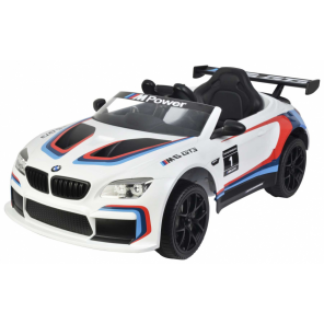 BMW M6 GT3 battery vehicle with remote control 12V white