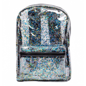 A Little Lovely Company backpack Glitter girls 9 liter pvc black