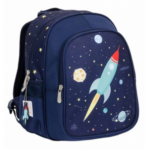 A Little Lovely Company backpack Space junior 13 litres polyester dark blue