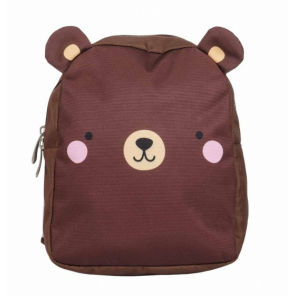 A Little Lovely Company backpack Bear junior 5.5 litre polyester brown
