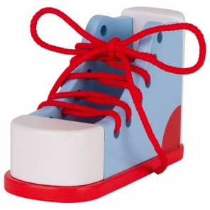 Goki learn to tie your laces yourself 16,5 cm blue / red