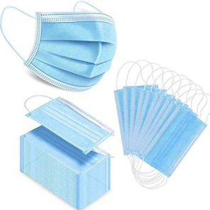 50x pcs protective filter disposable with ear loop 3 layers