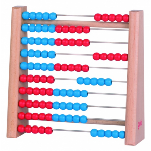 Goki Abacus 10 Rows With Pearls 100 17 x 5 x 16.5 cm Wood