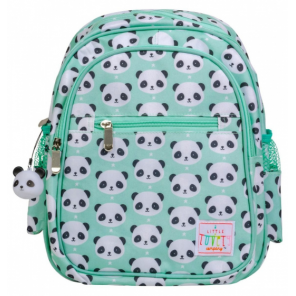 A Little Lovely Company backpack Panda junior 13 litres acrylic mint green
