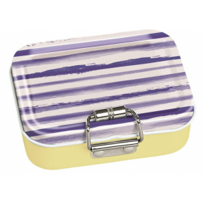 Moses mini-bureaubox stripes steel yellow/blue/white 7-piece