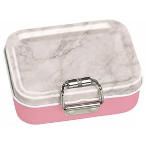 Moses mini-bureaubox stripes steel grey/pink/white 7-piece