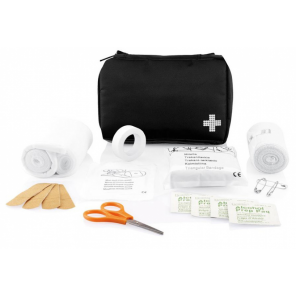 XD Collection First aid kit shipping 15 cm polyester black