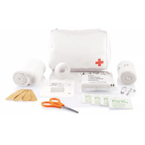 XD Collection First aid kit shipping 15 cm polyester white
