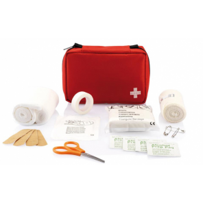 XD Collection First aid kit shipping 15 cm polyester red