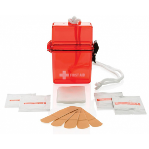 XD Collection First aid kit waterproof 11 cm polystyrene red