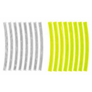 M-Wave Reflecterende Stickers White + Yellow 16 Pieces