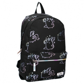 backpack Pusheenthe cat 19 litres polyester black/white
