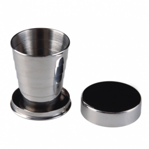 AceCamp collapsible cup stainless steel 60 ml silver
