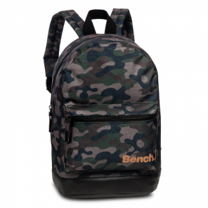 Bench backpack 34 x 24 cm polyester army green