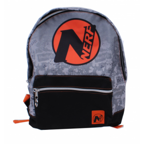 backpack NERF junior 12 litres polyester grey/black/orange