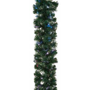 TOM christmas garland with decoration 12 meters green