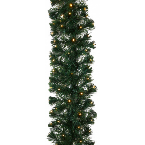 TOM christmas garland with lights 12 meters green 112 led lights