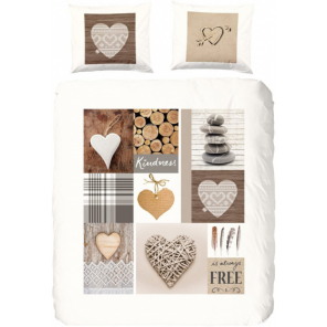 Good Morning duvet cover Dasher 135 x 200 cm flannel taupe