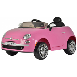 Fiat 500cc battery vehicle with remote control 12V pink