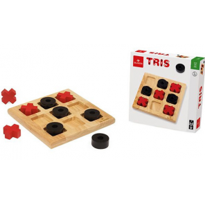 Dal Negro butter, cheese and eggs 21 cm wood black/red 3-piece