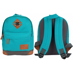 Abbey backpack 28 x 20 x 10 cm polyester turquoise 5.5 litres