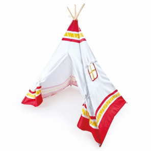 Hape playing tent Tipi 122 x 122 x 150 cm red