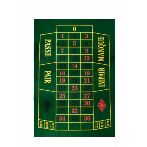 Longfield games roulette cloth green 130 x 90 cm