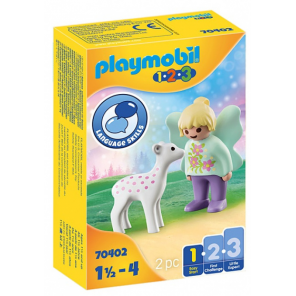 PLAYMOBIL 1,2,3 - Fairy friend with fawn (70402)