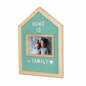 Balvi letterboard with photo frame 34 cm wood green