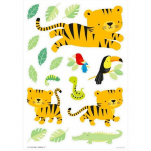 A Little Lovely Company wall stickers Jungle junior 50 cm vinyl green/yellow