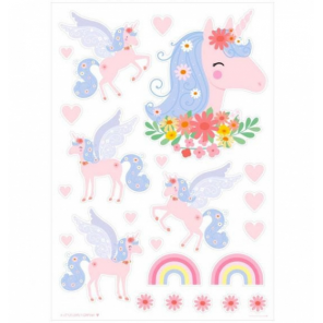 A Little Lovely Company wall stickers unicorn junior 50 cm vinyl pink