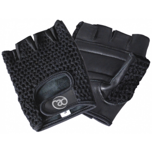 Fitness-Mad fitness gloves leather/mesh black size S/M