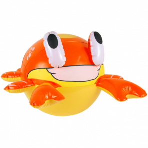 Folat inflatable crab 45 cm red/yellow
