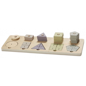 byAstrup forms and calculation game junior 40 cm wood light brown 3 parts