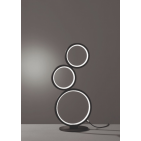 Trio table lamp Rondo 45 cm steel black