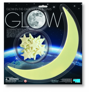 4M Glow in The Dark Pack: Moon And Stars 12
