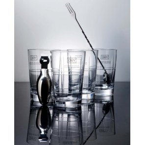 Balvi Gin-tonicset Dry Collection stainless steel/glass 6-piece