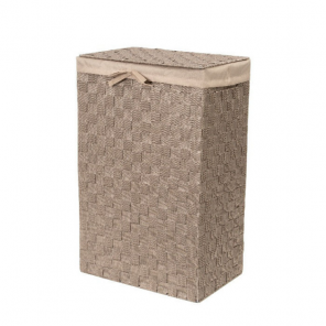 Compactor rectangular laundry basket Stan textile 57 liters taupe