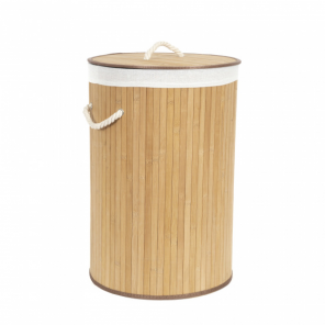 Compactor laundry basket bamboo 40 x 60 cm brown