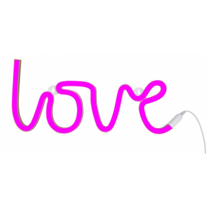 A Little Lovely Company lamp neon Love junior 38 cm PVC pink