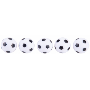 Angel sports Table Football Balls Black White 5 Pieces