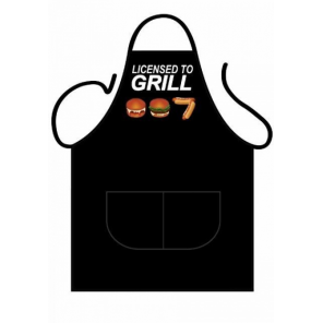 Partychimp apron Licensed to Grill 80 x 56 cm polycotton one-size