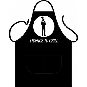 Partychimp apron Licence to Grill 80 x 56 cm polycotton one-size
