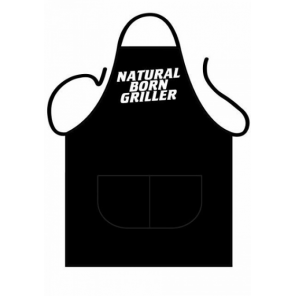 Partychimp apron Natural Born Griller 80 cm polycotton one-size